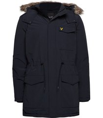 winter weight microfleece jacket parka jas blauw lyle & scott