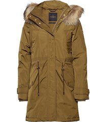 edith down jacket parka rock jacka grön morris