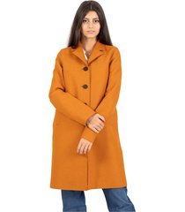 button up boxy marigold coat