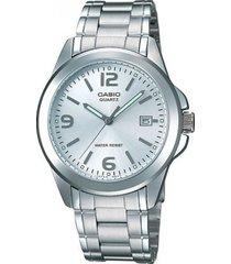 reloj casio mtp-1215a-7a de hombre-plateado