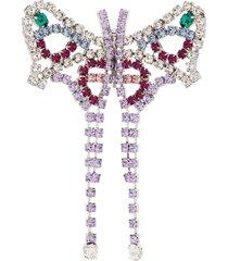 area crystal butterfly brooch - silver
