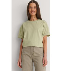 na-kd basic ekologisk boxig oversize t-shirt - green