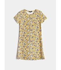 vestido básico estampado floral