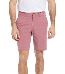 johnnie-o men's reyes stretch cotton shorts, size 40 in malibu red at nordstrom