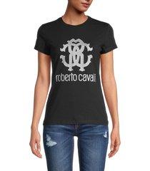 roberto cavalli women's rc logo t-shirt - nero - size xs