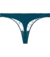 marlies dekkers the adventuress butterfly thong - blue