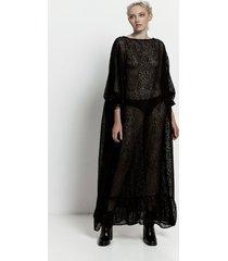 sukienka transparentna maxi
