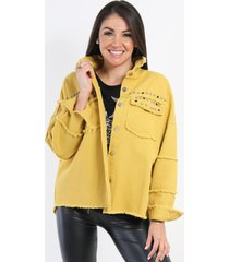 chaqueta denim erika mostaza night concept
