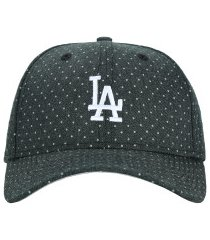 boné aba curva new era 940 los angeles dodgers polka - snapback - adulto - preto