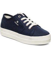 leisha low lace shoes låga sneakers blå gant