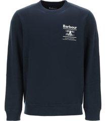 barbour barbour reed logo sweatshirt