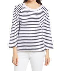 women's caslon scoop neck sweatshirt, size x-large - white