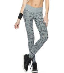 calça legging live flash cinza