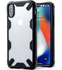 estuche protector ringke fusion-x iphone x - borde negro