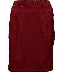 jillian skirt knälång kjol röd kaffe