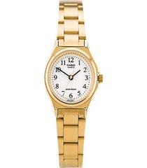 reloj casio ltp_1130n_7br dorado acero inoxidable