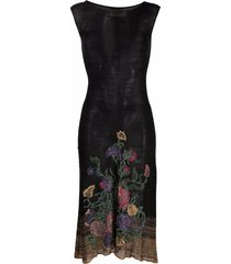 a.n.g.e.l.o. vintage cult 1990s floral-embroidered fine-knitted dress