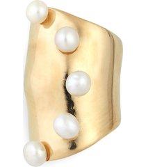 women's faris pearl bubble ear cuff