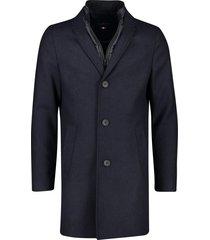 wollen jas donkerblauw portofino