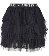 aniye by fringed short skirt