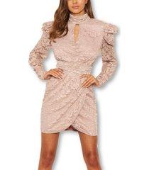 ax paris square shoulder lace dress