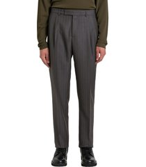 dior high-rise pinstriped trousers