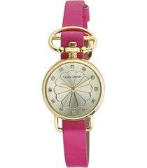 laura ashley ladies' pink/gold heirloom watch