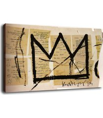 "abstract art decor oil painting print on canvas jean-michel basquiat""crown"""