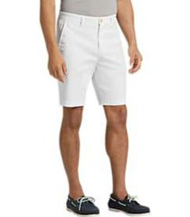 joseph abboud white modern fit shorts