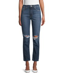 joe's jeans women's alhambra straight-fit jeans - dark blue - size 27 (4)