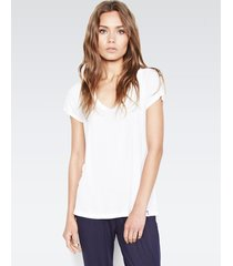 buzz scoop neck tee - l white