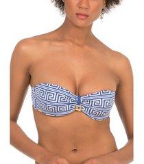 bikini selmark laberinto mare bleu bandeau zwempak top