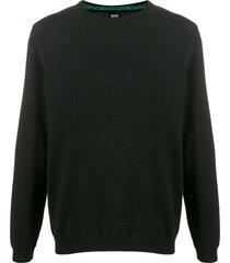 boss piqué knit sweatshirt - black