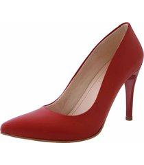 tacones rojo stivali chiara cuero