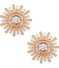 sunshine swarovski crystal oversized clip-on earrings