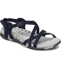 san remo ii navy shoes summer shoes flat sandals blå merrell
