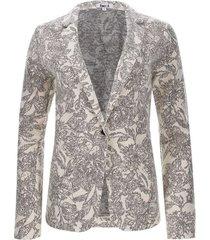 blazer estampado color blanco, talla 10