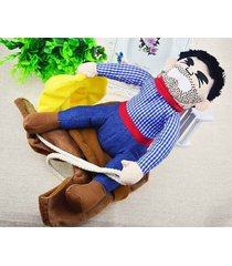 funny pet suit dog cowboy costumes riding knight clothes style holiday parties