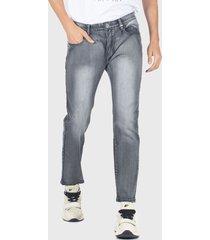 jeans ellus new skinny tiro bajo full lavado  gris - calce skinny