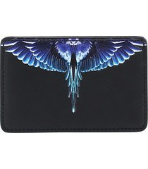 marcelo burlon diagonal wings card holder