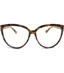 trendy oversized cat eye clear lenses eyeglasses for women
