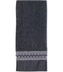 "avanti ""braided cuff"" fingertip towel, 11x18"" bedding"