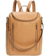 nordstrom sodo leather backpack - brown