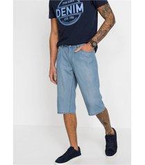 regular fit lange jeans bermuda met tencel™ en linnen