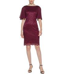 jessica howard shimmer lace sheath dress