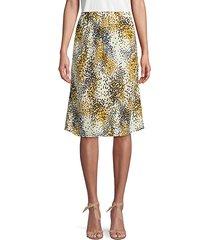 confetti-print silk skirt