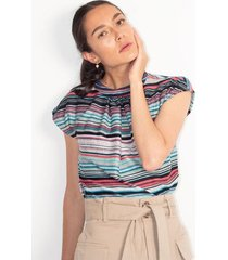 camiseta para mujer color-multicolor-talla-xs