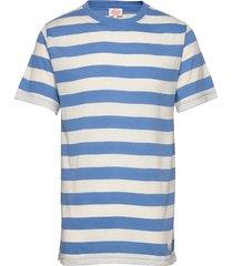 block colour t-shirt t-shirts short-sleeved blå armor lux