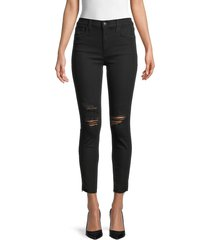 joe's jeans women's high-rise distressed skinny jeans - industry - size 30 (8-10)