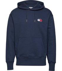 tjm tommy badge hoodie hoodie trui blauw tommy jeans